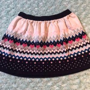 Gymboree size small heart fair isle sweater skirt